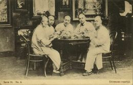China, AMOY XIAMEN, Chinese Men At Dinner (1910s) Mission Series III-8 - China