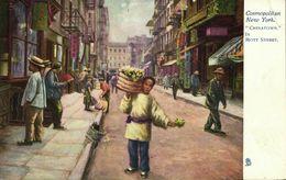 China, Chinatown In Mott Street, Cosmopolitan New York (1910s) Tuck Postcard - China