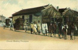 China, Chinese Wedding Procession (1910s) Postcard - China