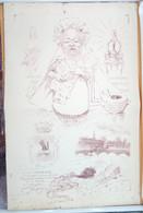 érotisme Satirique, Maurice Neumont, La Célèbre Société Artistique Et Littéraire Le Cornet, Exemple D'impression - Lithographies