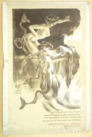 érotisme Satirique 1909, Auguste Auglay, La Célèbre Société Artistique Et Littéraire Le Cornet - Lithographies
