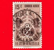 VENEZUELA - Usato - 1953 - Stemma Dello Stato Di Yaracuy - Arms - 15 - P. Aerea - Venezuela