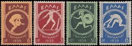 ** Greece - 1939 - Ancient Olympic - Mi. 421-4 - Olympische Spiele