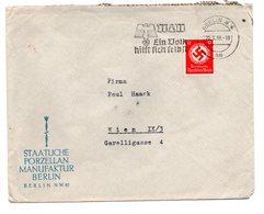 Deutschland, 1939, Briefkuvert Frankiert Mit 12Pf/Dienstmarke Und SStpl./Winterhilfswerk (17474E) - Germany