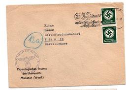 Deutschland,1943, Briefkuvert Frankiert Mit Senkr. Paar 6P/Dienstmarken Und SStpl. (17477E) - Officials
