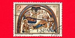 SPAGNA - Usato - 1972 - Natale - Navidad - Christmas - Noel - La Natività - León - 2 - 1931-Oggi: 2. Rep. - ... Juan Carlos I