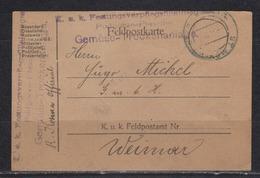Österreich Feldpostkarte I.WK Von Podgorze-Plaszow/19.VII.18 Nach Weimar - Briefe U. Dokumente
