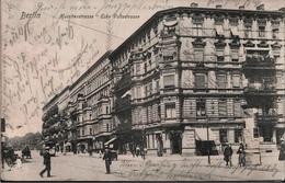 ! Alte Ansichtskarte Aus Berlin Hussitenstraße, Ecke Voltastraße, Litfaßsäule, Tram, Gesundbrunnen - Mitte