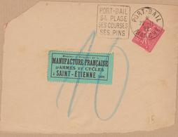 DEVANT ENVELOPPE CACHET DAGUIN 1927 PORT BAIL (MANCHE) - Marcophilie (Lettres)