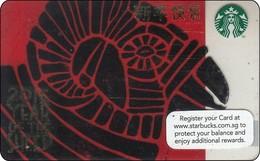Singapore Starbucks Card Chin New Year - Sheep 2014 - Gift Cards