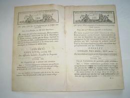 Bonaparte:Code Civil :manière D'acquérir La Propriété:casi Contrat,contrat De Mariage,communauté,séparation,préciput,dot - Decretos & Leyes