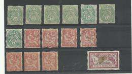 Dedeagh Lot De N° 10-11-12-15 Neufs**, * Et Obl., Cote YT 61€ 50 - Dedeagh (1893-1914)