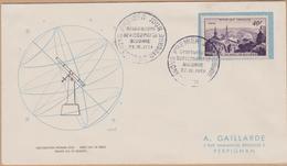 ENVELOPPE TIMBRE 1951  OBSERVATOIRE DU PIC DU MIDI DE BIGORRE  COTE 35 - FDC