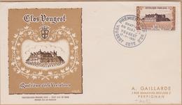 ENVELOPPE TIMBRE 1951  CHATEAU DU CLOS DE OUGEOT (COTE D'OR)      COTE  38 - FDC