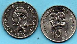 R13/  FRENCH  POLYNESIE  10 Francs 1982 - Polynésie Française