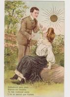 Carte Fantaisie Gaufrée  / Couple : Déclaration D'amour . - Paare