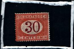6285B) ITALIA-30C.OCRA E CARMINIO-Cifra Entro Un Ovale - Segnatasse - 1874-MLH* - Postage Due