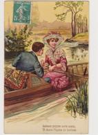 Carte Fantaisie  / Couple : Promenade En Barque - Couples