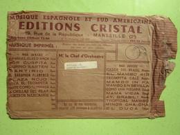 Enveloppe Publicité EDITIONS CRISTAL NAUDE Oblitéré 12/1960 Marseille (13) / Verso MAUGEIN Frères Accordéons TULLE (19) - Werbung
