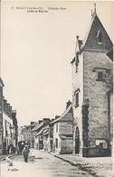 Carte Postale Ancienne  De Nozay La Grande Rue Près De La Mairie - France