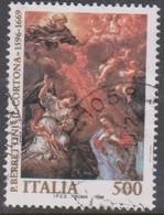 Italy Republic S 2244 1996 Pietro Berrettini 400th Birth Anniversary ,used - 1991-00: Afgestempeld
