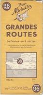 FRANCIA NORD. Michelin, 1952-53, N. 98 - Carte Stradali