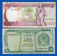 Malte  2  Billets - Malta