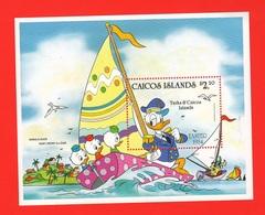Qui Quo Qua Paperino Donald Duck  Disney Caicos Islands  Series 2,20 $ SHEET MNH - Disney