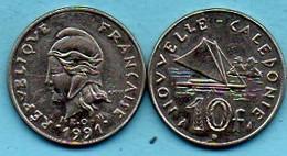 R13/ NEW CALEDONIA 10 Francs 1991 NOUVELLE CALEDONIE - Nouvelle-Calédonie