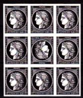 Cérès Bloc 9 X 0.20 € Non Dentelé Avec Tête-bêche, 170 Ans Du Premier Timbre De France 1849/2019 - France