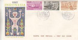 Indonesie - Lettre De 1961 - Oblit Bandoung - Tourisme - Bateaux - Danse - Indonesia