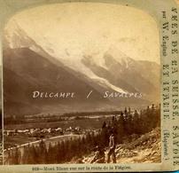 Chamonix 1865 * Les Praz, Vue Du Chemin De La Flégère * Photo Stéréoscopique W England - Voir Scans - Stereoscopic