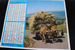 Calendrier Des Postes PTT 1980 SEINE-MARITIME, Char à Boeufs, Dentelières, Et Plusieurs Photos: Tour à Bois, Fab Tonneau - Big : 1971-80