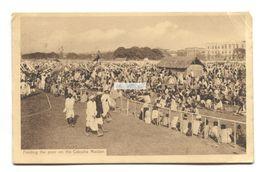 Feeding The Poor On The Calcutta Maidan - 1911 Used India Postcard, Posted To Ireland - India