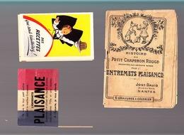 Entremets / Plaisance Jost-David Et Recettes Alsa / 3 Documents - Reclame