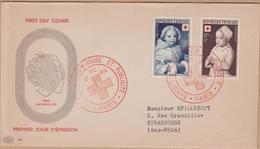 ENVELOPPE 1951 CROIX ROUGE ET PUBLICITE (PARIS) COTE 50 - FDC