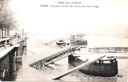 INONDATIONS - PONT DE LA CONCORDE SOUS LA NEIGE      Bb-976 - Paris Flood, 1910