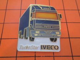 1518c PIN'S PINS / Rare Et De Belle Qualité ! / Thème : TRANSPORTS / CAMION TURBOSTAR IVECO - Transports