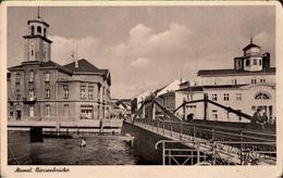! Alte Ansichtskarte Memel, Börsenbrücke - Ostpreussen