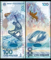 RUSSIA 100 Rubles 2014 SOCHI , Pick 274 UNC - Russia