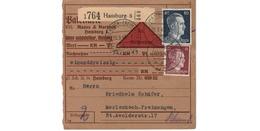 Colis Postal  -  De Hamburg  - 25/3/43 - Covers & Documents