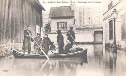 INONDATIONS -  DEMENAGEMENT RUE DAVID   BB-986 - Inondations De 1910
