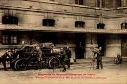 75-REGIMENT DES SAPEURS POMPIERS DE PARIS..FOURGON DE PROTECTION MIXTE...CPA ANIMEE - France