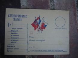Modele Adkz 3 Drapeau Central Carte Correspondance Militaire Guerre 14.18 - Marcophilie (Lettres)