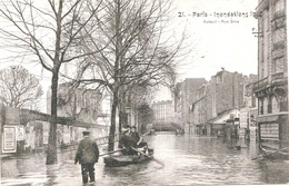 INONDATIONS - LA RUE GROS    BB-994 - Paris Flood, 1910