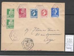 Algerie - Lettre  - Cachet Hexagonal OULED RACHED SAS Et HASNAOUA SAS-  Marcophilie - Algerien (1924-1962)