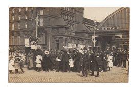 Liverpool. Lime Street Station. Carte Photo 1908. - Liverpool