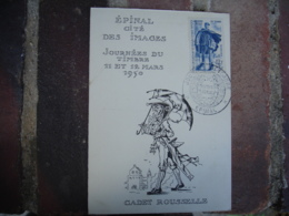1950 Journee Timbre Epinal Facteur Rural Carte Cadet Rouselle - Marcophilie (Lettres)