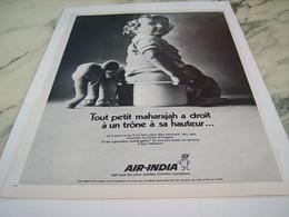ANCIENNE PUBLICITE LIGNE AERIENNE  AIR INDIA 1969 - Advertisements