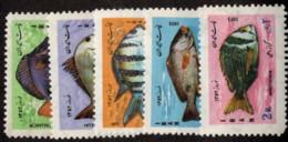 IRA SC #1697-1701 1973 Iranian New Year / Fish CV $7.75 - Iran